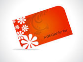 A Gift Card For You — Stock Vector