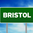 Green Road Sign - Bristol, England — Stock Photo #7247776