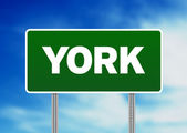 Green Road Sign - York, England — Stock Photo