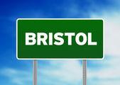 Green Road Sign - Bristol, England — Stock Photo