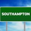 Green Road Sign - Southampton, England — Stock Photo