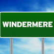 Green Road Sign - Windermere , England — Stock Photo #7252177