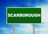 Green Road Sign - Scarborough, England — Stock Photo