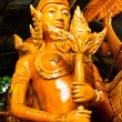Thai style wax angel statue in Candle Festival at Ubonratchatha — Stock Photo