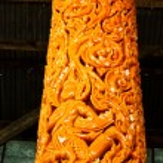 Thai style molding art in Candle Festival at Ubonratchathani — Stock Photo