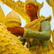 Thai style wax angel statue in Candle Festival at Ubonratchathani — Stock Photo