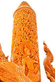 Thai style molding art on the candle — Stock Photo