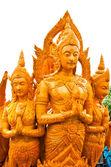 Thaise stijl wax engel standbeeld in kaars festival in ubonratchathani — Stockfoto