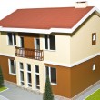Stock Photo: Layout of two-storey house.