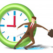 Rushing executive skid and reach on time — Stock Photo #6880584