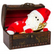 Royalty-Free Stock Photo: Toy santa klaus in an antiquarian chest