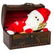 Toy santa klaus in an antiquarian chest — ストック写真