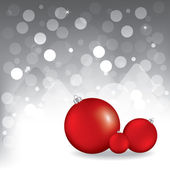 Christmas greeting card with red balls — Stock Vector