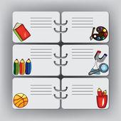 School background with design elements — Stock Vector
