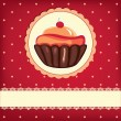 Cute retro Cupcake - Stock Vector