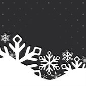 Christmas and New Year greeting card with snowflakes — Vector de stock
