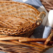 Royalty-Free Stock Photo: Brown wicker basket