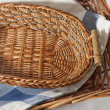 Stock Photo: Brown wicker basket