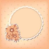 Tarjeta de felicitación del vector con flor — Vector de stock