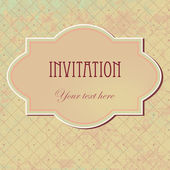 Vector vintage invitation card — Stock Vector