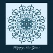 Royalty-Free Stock Vector Image: New Year Card with blue snowflake