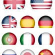 Collection of Flags Icons — Vector de stock
