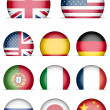 Collection of Flags Icons — Stock Vector