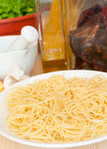 Cooking of Spaghetti — Stock Photo
