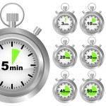 minuterie Stopwatch — Vecteur