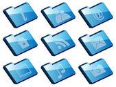 Set of Folder Icons — Wektor stockowy