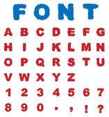 Fonts - Alphabet — Stock Vector