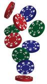 Jetons de poker — Vecteur