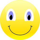 Vector smiley yellow emoticon. — Stock Vector