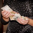 Hands hold money - Russiroubles — Stock Photo #7183003