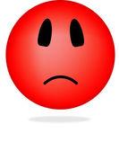 Angry smiley — Stock Vector