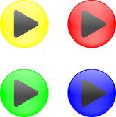 Vector - botón con juego — Vector de stock