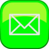 Vector Mail Button — Stock Vector