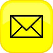 Tlačítko pošta vektor — Stock vektor