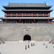 ancient city wall of xian, china — Stock Photo