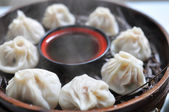Steamed dumplings — 图库照片