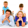 Couple with two children — Stock Photo #7439029