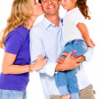 Couple with a daughter — Stock Photo #7481383
