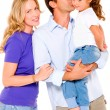 Couple with a daughter — Stock Photo