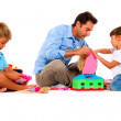 Father playing with children — Stock Photo #7482136