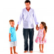 Father with two children — Stock Photo #7485016