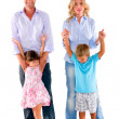 Family with two children - Stock Photo