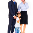 Family with one child — Stock Photo