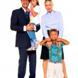 Family with two children — Stock Photo #7486608
