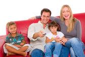 Famiglia con due bambini — Foto Stock