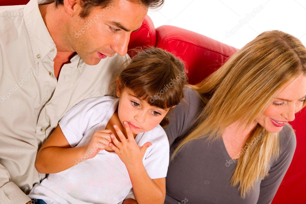 Family with one child  Stock Photo #7486205